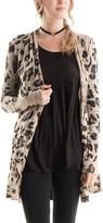 Brown & Black Leopard Open Cardigan