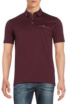 Black Brown 1826 Contrast Pocket Polo