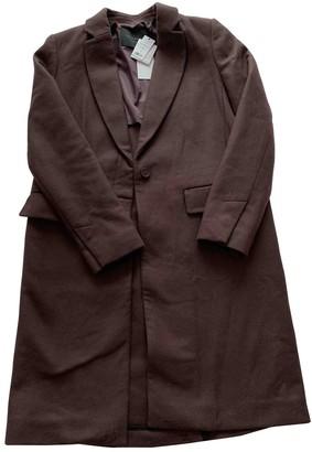 Equipment Burgundy Cotton Coat for Women