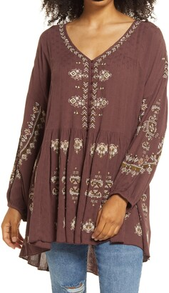 Free People Arianna Embroidered Tunic