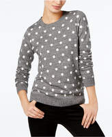 Charter Club Petite Marled Polka-Dot Sweater, Created for Macy's