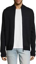 Toscano Men's Full Zip Merino Wool Sweater