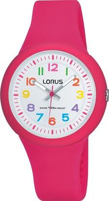 Lorus Girls Analogue Classic Quartz Watch with Silicone Strap RRX49EX9