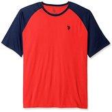 U.S. Polo Assn. Men's Big and Tall Color Block Raglan Feel Dry Performance T-Shirt