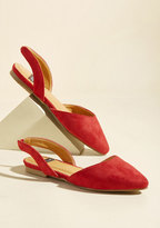 NYLA Shoes Inc. Slingback and Relax Vegan Flat in Ruby