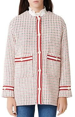 Maje Gerona Tweed Button Coat
