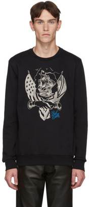 Paul Smith By Mark Mahoney by Mark Mahoney Black Ship Embroidered Sweatshirt
