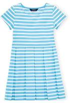 Ralph Lauren Striped Fit-And-Flare Dress (S 7, BLAZE /WHITE)