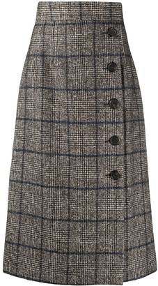 Dolce & Gabbana checked A-line skirt