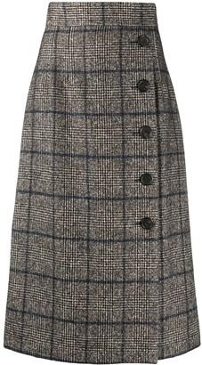 Dolce & Gabbana Checked Tartan Wrap Skirt