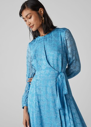 Devore Tie Waist Dress
