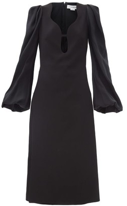 Victoria Beckham Keyhole-cutout Crepe Midi Dress - Black