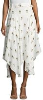 A.L.C. Claudio Silk Floral Printed Maxi Skirt