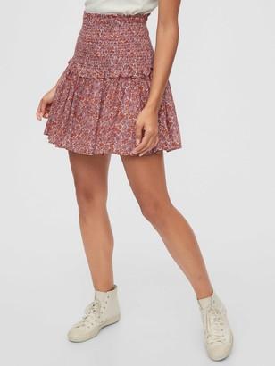Gap Smocked Tiered Mini Skirt