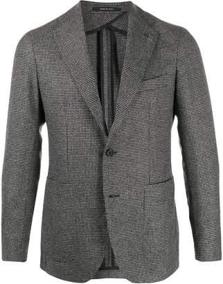 Tagliatore checked fitted blazer