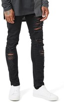Topman Men's Aaa Collection Ripped Stretch Skinny Jeans