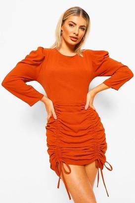 boohoo Extreme Ruched Detail Mini Dress