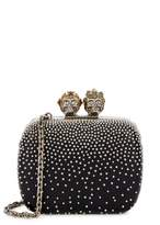 Alexander McQueen Black Mini Studded Leather Box Clutch
