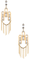Dannijo Camilla Crystal & Pearl Drop Earrings