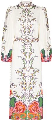Zimmermann Paisley Floral Print Midi Dress