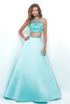 Blush Lingerie Bejeweled Sheer High Halter A-Line Gown 5624