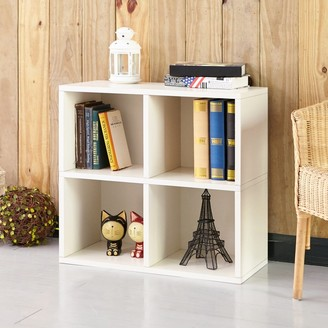 Way Basics Quad Cube, 4 Cubby Storage Shelf, White