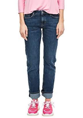 S'Oliver Women's Onlfresh Life L/s Knot Top JRS Straight Jeans, (Blue Denim Stretch 57z5), (Size: 34/L30)