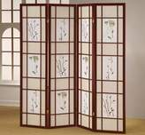 o.r.e International Four Panel Shoji Screen Cherry Finish