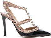 Valentino Rockstud Patent Leather Ankle Strap Heels