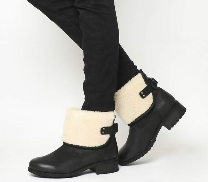 96b55192a0e Aldon Fold Down Boots Black Suede