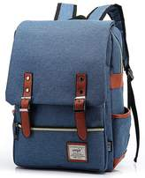 Mn&Sue British Style Casual Unisex Waterproof Oxford School Backpack Rucksack