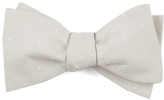 Tie Bar Bulletin Dot Light Champagne Bow Tie