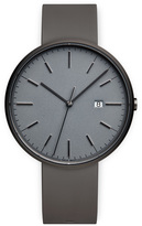 Uniform Wares M40 Men's date watch in PVD grey with dark grey nitrile rubber strap