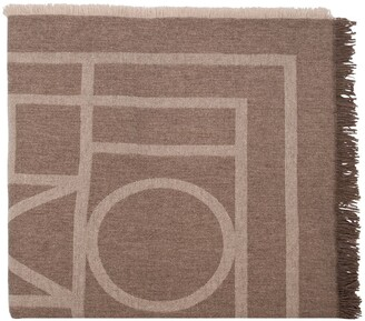 Totême Como monogram knit scarf