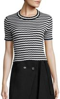 Proenza Schouler Cropped Striped Knit Top