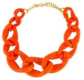 Kenneth Jay Lane Orange Curb Link Necklace