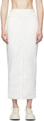Sunnei White Long Skirt