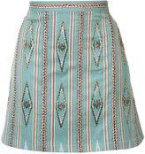 Alice + Olivia Alice+Olivia - bead embroidered mini skirt - women - Cotton/Polyester/Spandex/Elastane - 2