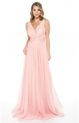 Ladyness Ladyness Pink Maxi Bridesmaid Dress