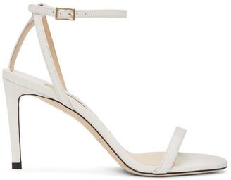 Jimmy Choo White Minny 85 Sandals