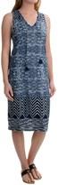 Lucky Brand Blue Batik Dress - Sleeveless (For Women)