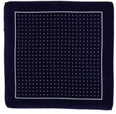 Black Navy and White Polka Dot Italian Silk Pocket Square