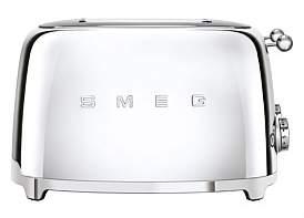 Smeg Tsf03Ssau 4 Extra Wide Slot Toaster