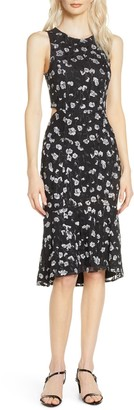 Ali & Jay Calamigos Cutout Embroidered Mesh Midi Dress