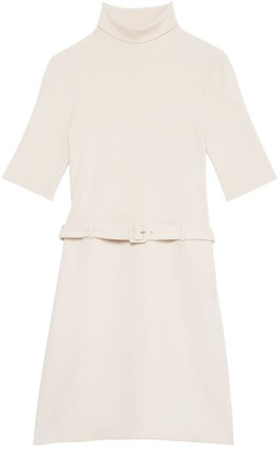 Theory Rib-Knit Wool-Blend Combo Dress