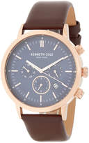 Kenneth Cole New York Men's Multifunction Leather Strap Watch
