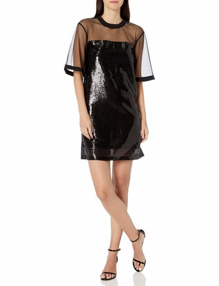 Armani Exchange A|X Women's Sequin and Mesh T-Shirt Dress