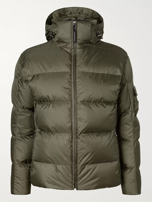 Bogner Simon-D Suede-Trimmed Quilted Ripstop Hooded Down Ski Jacket - Men - Green