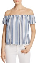 Bella Dahl Striped Off-the-Shoulder Top