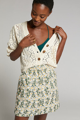 Maeve Orleans Embroidered Mini Skirt By in Assorted Size XS